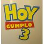 Toy Story De Cartel Cumpleaños Para La Puerta 50cm Goma Eva
