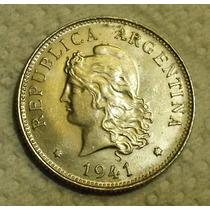 Argentina:moneda De 50 Centavos Año 1941(niquel)