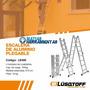 Escalera Plegable Aluminio Liviana 4 Tramos 4,7 Metros