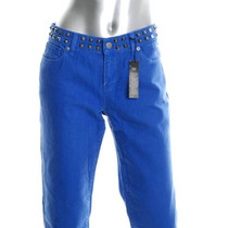 Victoria´s Secret Pantalon London Jean Con Tachas En La Cint