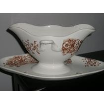 1352- Salsera Y Presentoire Palermo Porcelana Ofaca Richmond