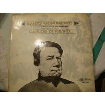 Long Play Disco Vinilo Di Fluvio Carlos Canto Monumento