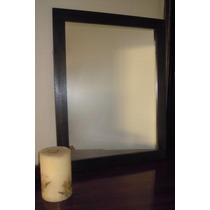 Espejo Con Marco De Madera P/baño O Deco 50x70