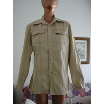 Lee Campera Retro Talle M, Semielastizado Color Beige