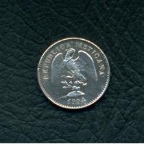 Moneda México 1904 Mo M 5 Centavos Km#400.2 (plata)
