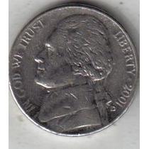 Estados Unidos Moneda De 5 Cents Año 2001 D !!!!