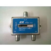 Switch Tv-catv Con Conector Pin Fino Con Rosca