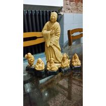 Estatuillas Figuras Orientales - Lote De 6.
