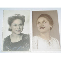 Foto Filmgraff Tarjeta Postal Gevaert Rostro Mujer Peinado