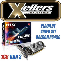 Placa De Video Ati Radeon Hd 5450 1gb Ddr3 Hdmi Dvi Vga