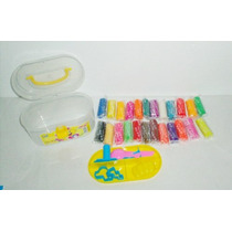 Plastilina 24 Masas Para Modelar + Accesorios + Caja