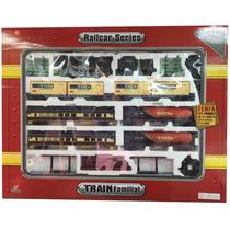 Tren Locomotora Fenfa A Pila 7 Vagones Esc 1:85 En Smile