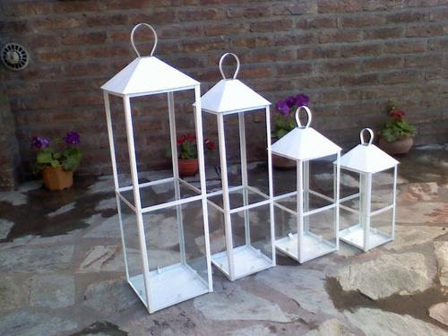 Farol porta vela 17x17x50cm dto de fabrica 260 fmepy - Faroles portavelas exterior ...