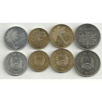 Serie De 4 Monedas De Guinea Bissau Año 1977 Arboles