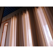 Cortinas De Hilo Bordado Con Vainillas Color Natural...