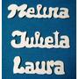 Nombres En Madera Guatambú De 3mm. Espesor (no Fibrofacil)