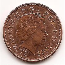 Moneda Gran Bretaña Inglaterra 1 Penny One Penny Año 2006