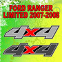 Calcomania Decoracion 4x4 Ford Ranger 2007-2008