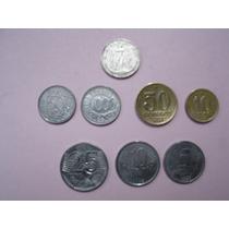 Lote De 9 Monedas De Brasil (hay Una Antigua)