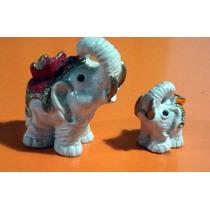 Pequeños Elefantes Realizados En Poliresina