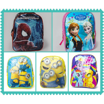 Mochila Frozen,minions,my Littel Pony,spiderman. Para Jardin