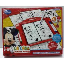 Juego De Las Diferencias Disney Mickey Con Tablero Wal 70161
