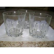 Vasos De Whisky - Antiguos De Vidrio Grueso- En Exc Estado
