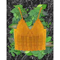New Out Musculosa Blanca Negra Tejida Crochet Talle 1~2~3~4