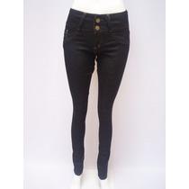 Jeans Elastizado Chupin Para Mujer Tiro Alto