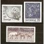 Suecia Buho,trabajo,caballos Serie De 3 V.yvert N°972/5 Mint