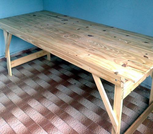 Mesa para quincho jardin plegable 900 fzvnr precio d for Mesa plegable quincho