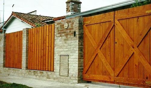 Postigos portones puertas ventanas estilo campo postigos for Como hacer un porton de madera economico