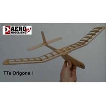 Kit En Madera Balsa Premiun Planeador Teniente Origone Laser