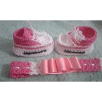Sapatillita Tejida Al Crochet