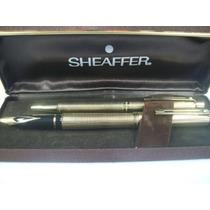 Sheaffer X2 Bolígrafo Y Lapicera A Bomba Cuadrillé Gold