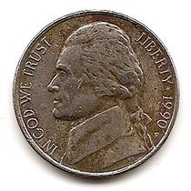 U.s.a. Moneda De Niquel De 5 Cts.año 1990