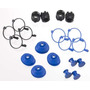 Traxxas 5378x -pivot Ball Caps (4) Dust Boots Rubber (4)