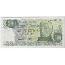 Billete 500 Pesos Ley Tirada Corta 7 Dolares, Oferta!!!!!!!