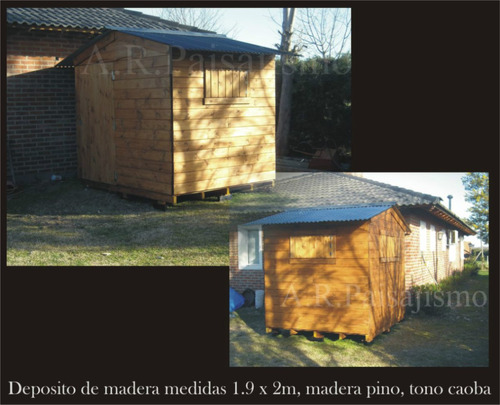 Cobertizo deposito de madera casilla guarda herramientas for Cobertizos de chapa