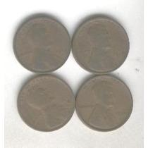 4 Monedas Estados Unidos 1 Centavo Año 1916 Al 19 Lincoln