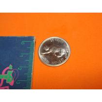 Moneda 1967 Cuarto Dólar De Plata Canadienses De Isabel Ii