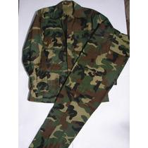Conjunto Militar Camuflado Tela Ripstop. Pantalón + Chaqueta