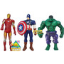 Muñecos Plastisol Avengers, Vengadores Origi. Marvel Jiujim