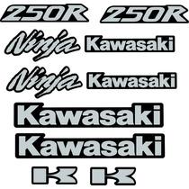 Calcos Kawasaki Ninja 250 R 08 14 Kit Moto Negra