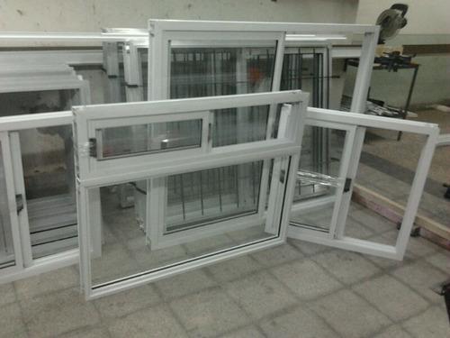 Ventana aluminio blanca vidrio entero 60 x 40 ventiluz for Puertas balcon de aluminio precios en rosario