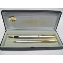 Inoxcrom X2 Bolígrafo Y Lapicera Clip Oro- Década 80- España