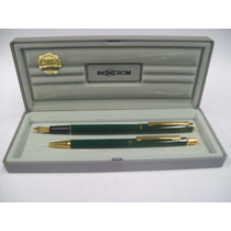 Inoxcrom X2 Bolígrafo Y Lapicera Laqué - Década 80