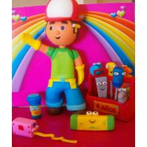 Manny A La Obra + 9 Herramientas + Caja + Cartel C- Nombre !