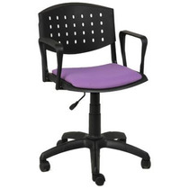 Silla Oficina Pc Giratoria Altura Regulable Cyber Plastica