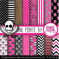 Kit Imprimible Pack Fondos Piratas 6 Clipart
